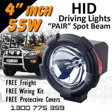 HID Xenon Driving Lights - Pair 4 Inch 55w Spot Beam 4x4 4wd Off Road 12v 24v