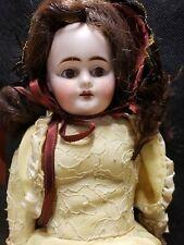 "Antique German Doll Set Brown Eyes 3/00 14"""