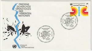 1980 FDC - UN Vienna - Peacekeeping Operations - S6 Stamp