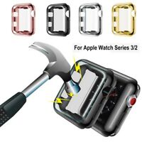 Silicone TPU Bumper Case Cover For Apple Watch Series 3/2/1 iWatch 38mm 42mm