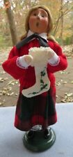Byers Choice Carolers Fancy Girl Lenox w Holiday Nouveau Embroidered Stocking