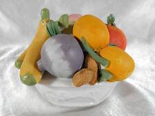 CORBEILLE / PANIER DE FRUIT & LEGUME BANANE CAROTTE ... EN PORCELAINE & BISCUIT