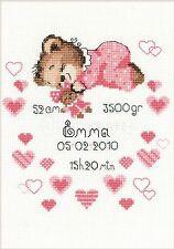 RIOLIS  1123  Girl Birth  Announcemen  Counted  Cross Stitch  Kit