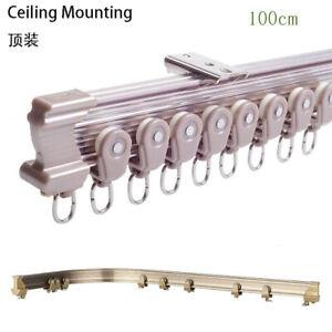 One Meter Aluminum Metal Alloy Bendable Window Tracks Curtain Poles Brown