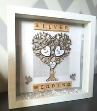 PERSONALISED FAMILY TREE WEDDING ANNIVERSARY 3DBox Frame,Home Decor,Scrabble