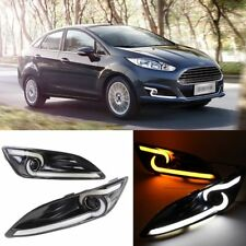 Daytime Running Lights DRL With Yellow Turn Signal For Ford Fiesta 2013-2014
