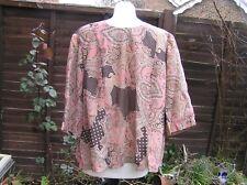Vintage paisley pink hippy boho 1970s  1960s top medium handmade patchwork