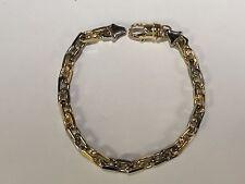 "10k Solid Gold Handmade Link men's Bracelet 9"" 35 grams 6.5MM"