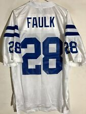 Reebok NFL Jersey Indianapolis Colts Marshall Faulk White sz LARGE