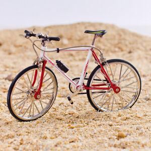 1/10scale Zinc Alloy Red White Mountain Bicycle Model Artwork Desktop Accs A