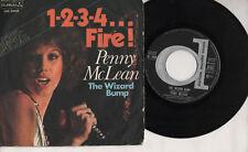 PENNY MCLEAN disco 45 giri  made in ITALY 1-2-3-4 Fire + The Wizard Bump 1976