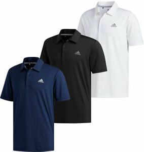 Adidas Ultimate365 Solid Crestable Polo Golf Shirt Logo Left Chest Men's New