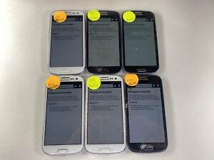 Lot of 6 Samsung Galaxy S 3 R530U Us Cellular *Check IMEI*