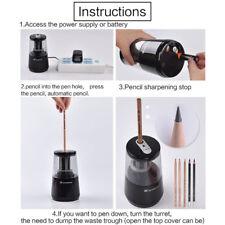 USB/Batteries Electric Pencil Sharpener for Home Office School Desktop