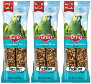 (3 Pack) Kaytee Forti-Diet Pro Health Honey Treat Value Pack, 2 Sticks Each