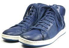 Polo Ralph Lauren Trevose Mid Hi Top Blue Leather Trainers Size 12 D Shoes