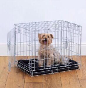 Double Door Dog Crate Grey (sizes xs, s, m, l& xl)