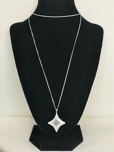 Diamond Sterling Silver Pendant & Chain 1.00k - 20 inches