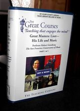 Great Courses Masters Liszt His Life and Music Unabridged Audio Cassettes & Book