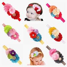 7 Pcs Girl Baby Toddler Flower Crown Headband Elastic  Hair Accessories