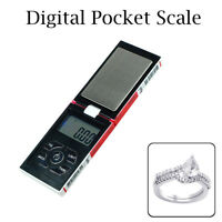 Electronic Pocket Scale Small LCD Display in White Red Home Herbs Gold 0.1g-500g