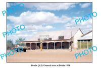 OLD LARGE PHOTO OF BOULIA GENERAL STORE QLDc1954 SHELL PETROL BOWSER