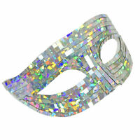 Adult Silver Dance Party Disco Queen Ball Masquerade Halloween Costume Eye Mask