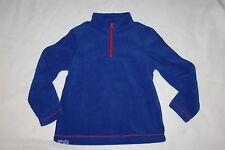 Boys L/S Sweat Shirt ROYAL BLUE FLEECE PULLOVER High Collar ZIP NECK Sz S 6-7