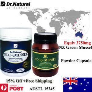 Joint & Arthrist Dr.Natural NewZealand Green lipped Mussel Equiv 750mg 180' 360'