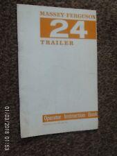 Massey-Ferguson No24 Rimorchio libro delle istruzioni
