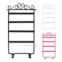 48 Hole Jewelry Earrings Hanging Display Stand Rack Holder Necklace Organizer