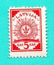 LATVIA LETTLAND MAP 5 KOPEKS 1919 SC. 2 MINT ARMS 467