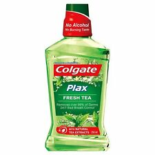 Colgate Plax Fresh Tea Mouthwash 250 ml bottle 8.45 oz with natural tea extracts