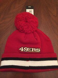 NWT San Francisco 49ers Beanie Hat NFL Football Team Apparel Ski Snow Youth boy