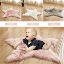 Star Shaped Rug Kids Living Bedroom Playroom Floor Mat Baby Room Nursery Carpets