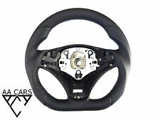 Steering Wheel BMW E87 E88 E90 E91 E92 E93 Flat Bottom Leather