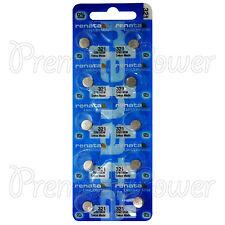 10 X Renata 321 Óxido plata Baterías 1.55v Sr616w reloj Sr65 Exp 2019
