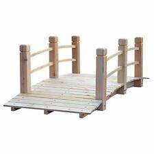 Outsunny 5 ft Wooden Garden Bridge Arc Footbridge with Railings for Your Back.