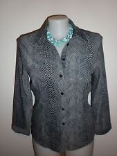 Harry Potter Ladies Shirt in a Grey Reptile Skin Pattern Size M