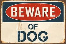 "Beware Of Dog 8"" x 12"" Vintage Aluminum Retro Metal Sign VS468"