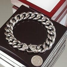 Heavy Stainless Steel Bracelet Heavyweight Men Chain Massive cuban biker Curb o1