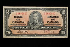 1937 Canada. ($2) Two Dollars. Series Y/B. Gordon-Towers.