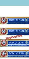 4 Tubes Arm and Hammer Total Clean Toothpaste for Pro Feel Cleaning whitening