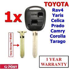 Toyota Key Shell / Case Corolla Yaris Prado RAV4 Echo Blank Two Button With Logo