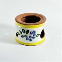 Vintage Stangl Pottery Blueberry Candle Warmer