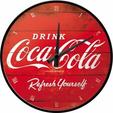 Nostalgic-art Logo 51074 de Coca Cola Refresh Yourself Horloge murale 31 cm rou