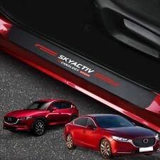 For Mazda 3 6 CX3 CX5 MX5 Accessories Car Door Sill Cover Scuff Plate Protector