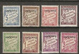 1931 ANDORRA FRANCESA TIMBRES  - TAXE YV 1/8*