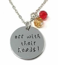 925 Silver Plt off With Their Heads Pendant Necklace Alice in Wonderland a