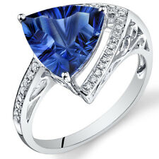 14 Kt White Gold 5 cts Blue Sapphire and Diamond Ring R61822